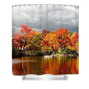 Autumn Storm Coming Shower Curtain