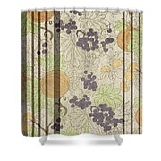 Autumn Sunflower Digital Illustration Shower Curtain