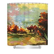 Autumn Sunlight Shower Curtain