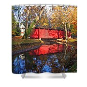 Autumn Sunrise Bridge II Shower Curtain