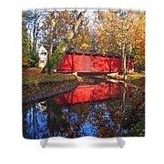 Autumn Sunrise Bridge II Shower Curtain