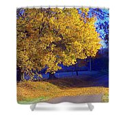 Autumn Sunrise In The Country Shower Curtain