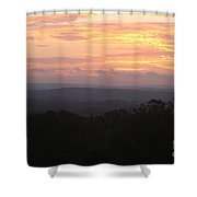 Autumn Sunrise Over The Ozarks Shower Curtain
