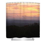 Autumn Sunrise Over The Ozarks Shower Curtain