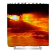Autumn Sunset Denmark  Shower Curtain