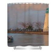 Autumn Sunset Fishing  Shower Curtain