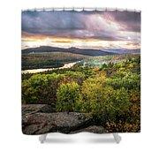 Autumn Sunset In The Catskills Shower Curtain