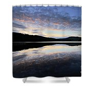 Autumn Sunset, Ladybower Reservoir Derwent Valley Derbyshire Shower Curtain