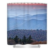 Autumn Sunset On The Parkway Shower Curtain
