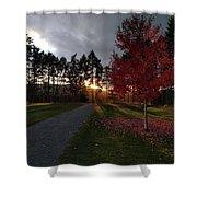 Autumn Sunset, Shawnigan Lake Shower Curtain