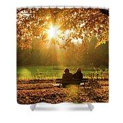 Autumn Sunshine In The Lichtentaler Allee. Baden-baden. Germany. Shower Curtain