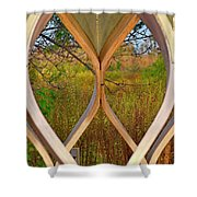 Autumn Symmetry Shower Curtain