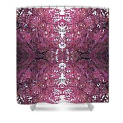 Autumn Tree Leaves Fractal B3 Mid Shower Curtain