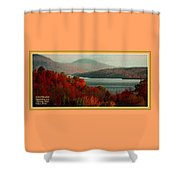 Autumn Trees Near A River H A With Decorative Ornate Printed Frame. Shower Curtain
