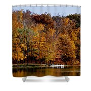 Autumn Trees Shower Curtain