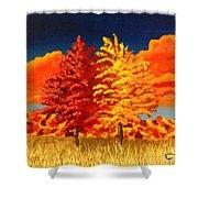 Autumn Twins Shower Curtain
