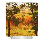 Autumn View, Montelle Winery, Augusta, Missouri Shower Curtain