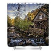 Autumn Water Wheel Shower Curtain