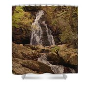 Autumn Waterfall In The Great Smoky Mountains Shower Curtain