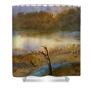 Autumn Wetlands Shower Curtain