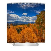 Autumn Wildfire At Ohio Pass Shower Curtain