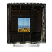 Autumn Windows Shower Curtain by Barry C Donovan