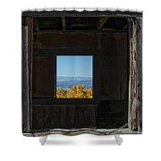 Autumn Windows Shower Curtain