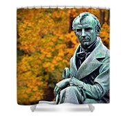 Autumn With Mr. Cooper Shower Curtain