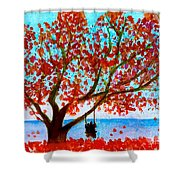 Together In Autumn  Shower Curtain