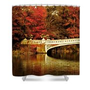 Autumnal Bow Bridge  Shower Curtain