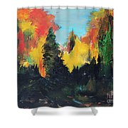 Autumnal Colors Shower Curtain