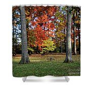 Autumnal Framework Shower Curtain
