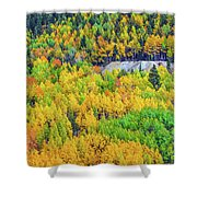 Autumnal Kaleidoscope  Shower Curtain