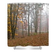 Autumnal Mist Shower Curtain