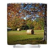 Autumnal Scenery Along Helmstetler Road Shower Curtain