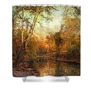 Autumnal Tones Shower Curtain