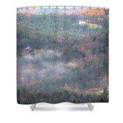 Autumns Fading Color Shower Curtain