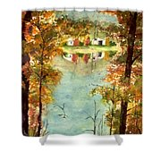 Autumn's Peaceful Abode  Shower Curtain