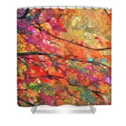 Autumns Splendorous Canvas Shower Curtain