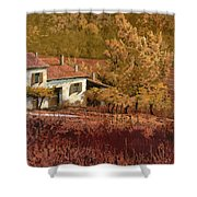 Autunno Rosso Shower Curtain