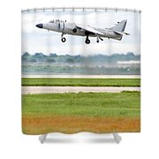 Av-8 Harrier Shower Curtain