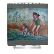 Ava And Friend Shower Curtain