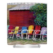 Available Seating Shower Curtain