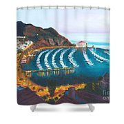 Avalon At Sunrise Shower Curtain by Nicolas Nomicos