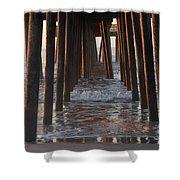 Avalon Pier At 32nd Street Shower Curtain