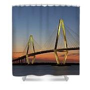 Avenell Bridge Sunset Shower Curtain