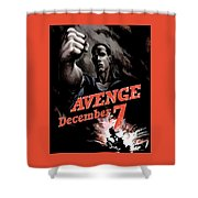 Avenge December 7th Shower Curtain by War Is Hell Store