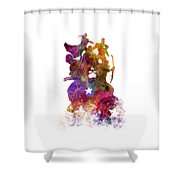 Avengers 02 In Watercolor Shower Curtain