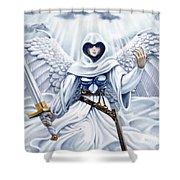 Avenging Angel Shower Curtain