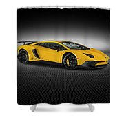 Aventador Lp 750-4 Sv New Giallo Orion Shower Curtain